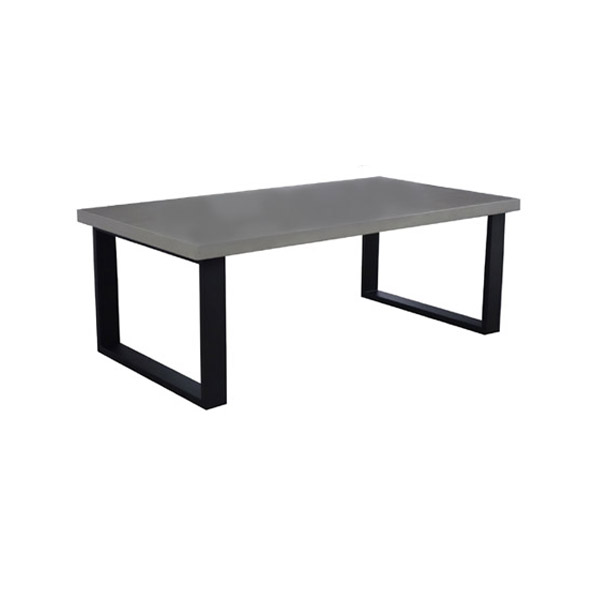 105430 Iron Cocktail Table + Concrete Finish Top