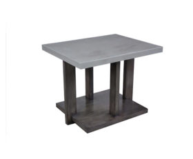 392430 Moderne End Table + Concrete Finish Top