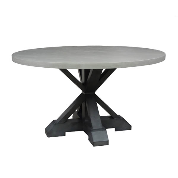 35400 Montage Round Dining Table + Concrete Finish Top