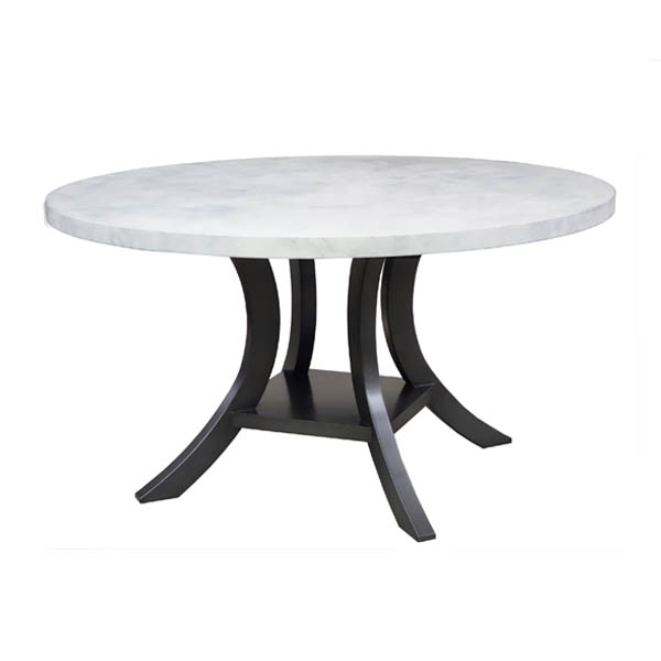 90540 Veranda Dining Table + White Plaster Top