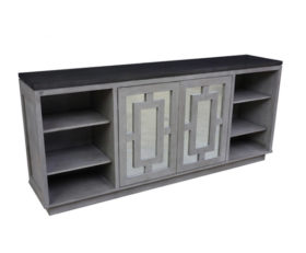 148418-M Buffet With Mirror Doors & End Shelves