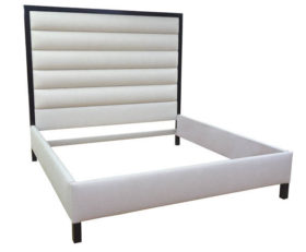 Custom Beverly Bed with Plain Frame