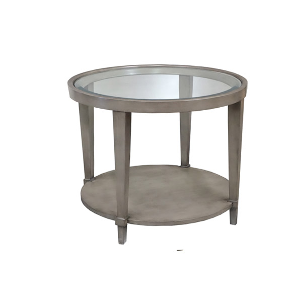 163000 Mercer End Table + Glass Top