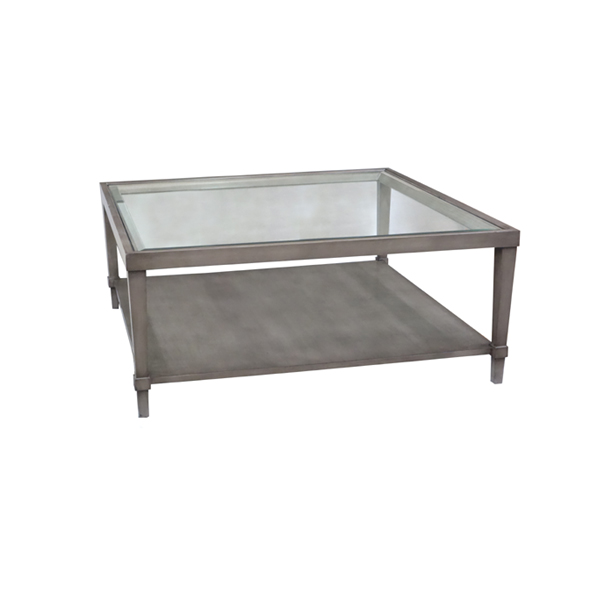 164242-G Mercer Cocktail Table + Glass Top